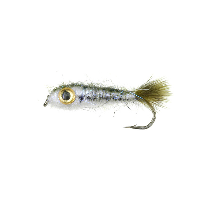 Lite brite minnow baby bass 052 fishing flies streamers for Fishing with minnows for bass