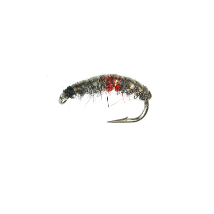 CZ Ribbed Nymph Olive/Red (366)