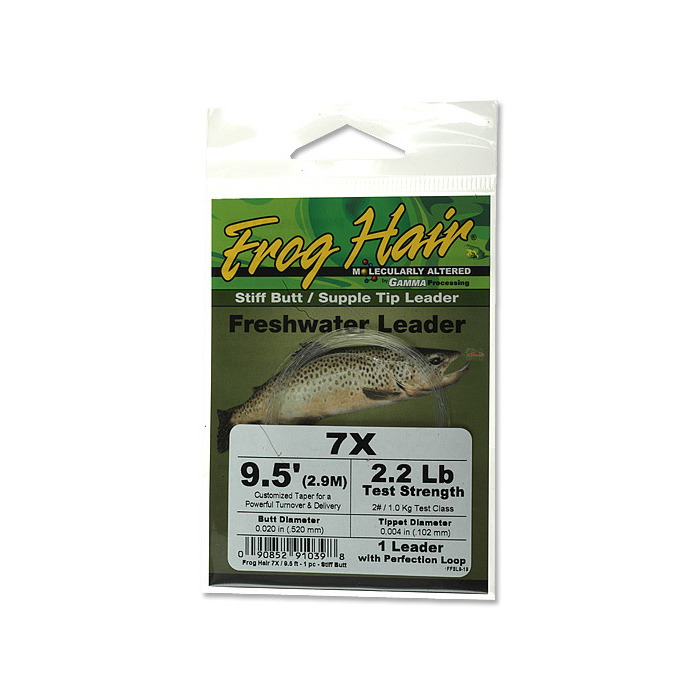 Frog Hair Stiff butt 9.5 in. (2.90 m) Leader