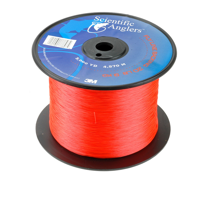 Scientific anglers backing 5000 yard fl orange fly for Fly fishing backing