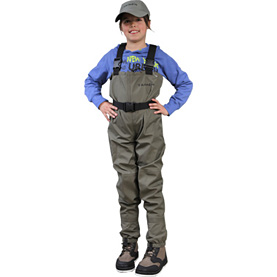 Fly fishing taimen for Kids fishing waders