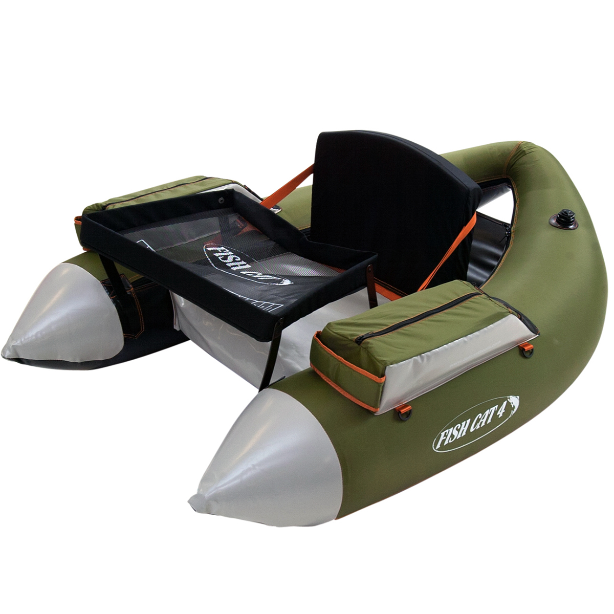 Outcast fish cat 4 lcs belly boat floating tubes ebay for Fish cat 4