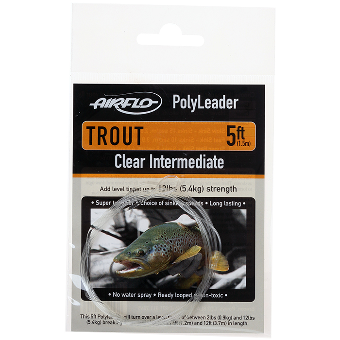 Airflo Polyleaders Trout 5 Ft Tapered Leaders Taimen