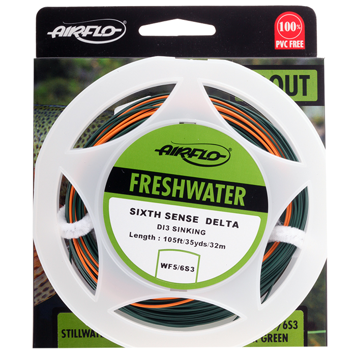 Airflo sixth sense delta sinking di3 sinking fly lines for 6th sense fishing
