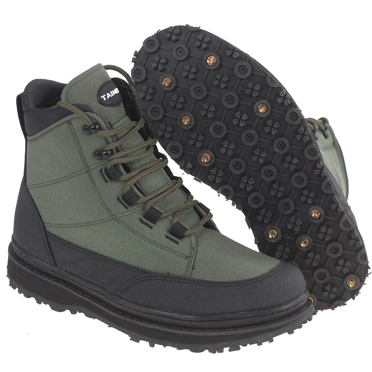 Taimen Sl Plus Wading Boots Rubber Sole 20 Studs Free