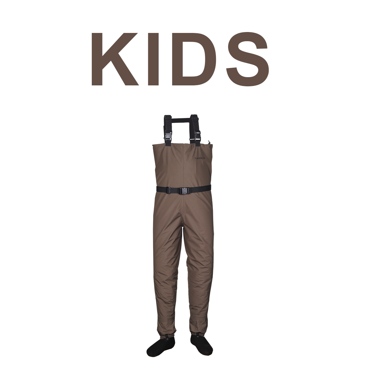 Taimen stx waders kids fishing waders chest hip and for Kids fishing waders