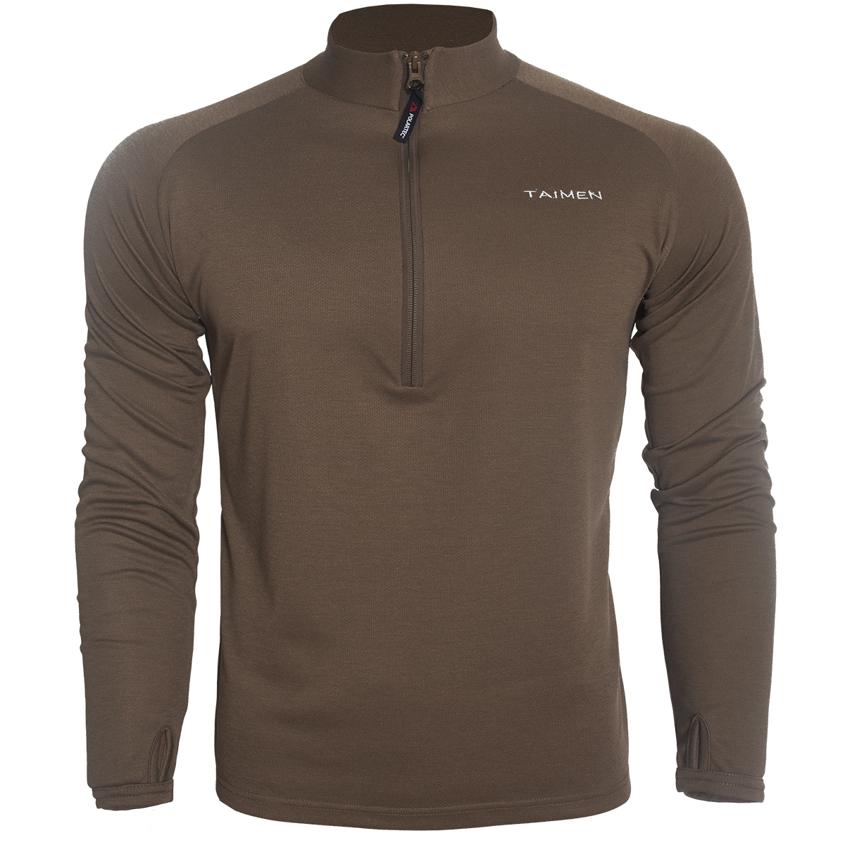 Taimen Polartec Power Dry Heavy Weight Zip Top - Canteen