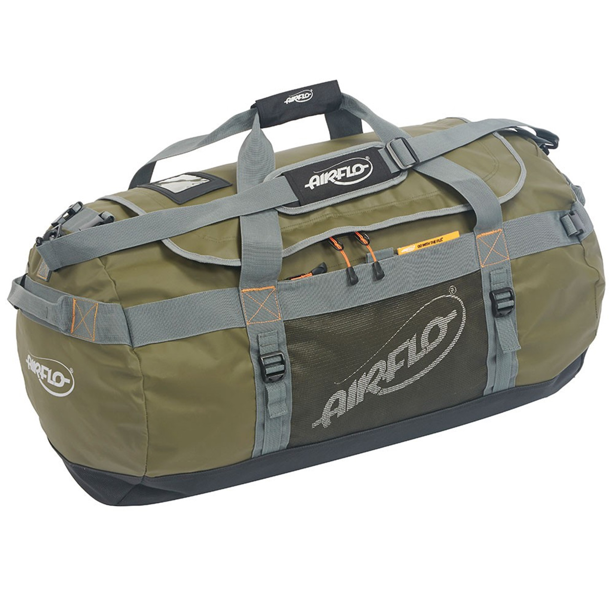 Airflo fly dri 90 litre duffel fishing bags luggage for Fly fishing luggage