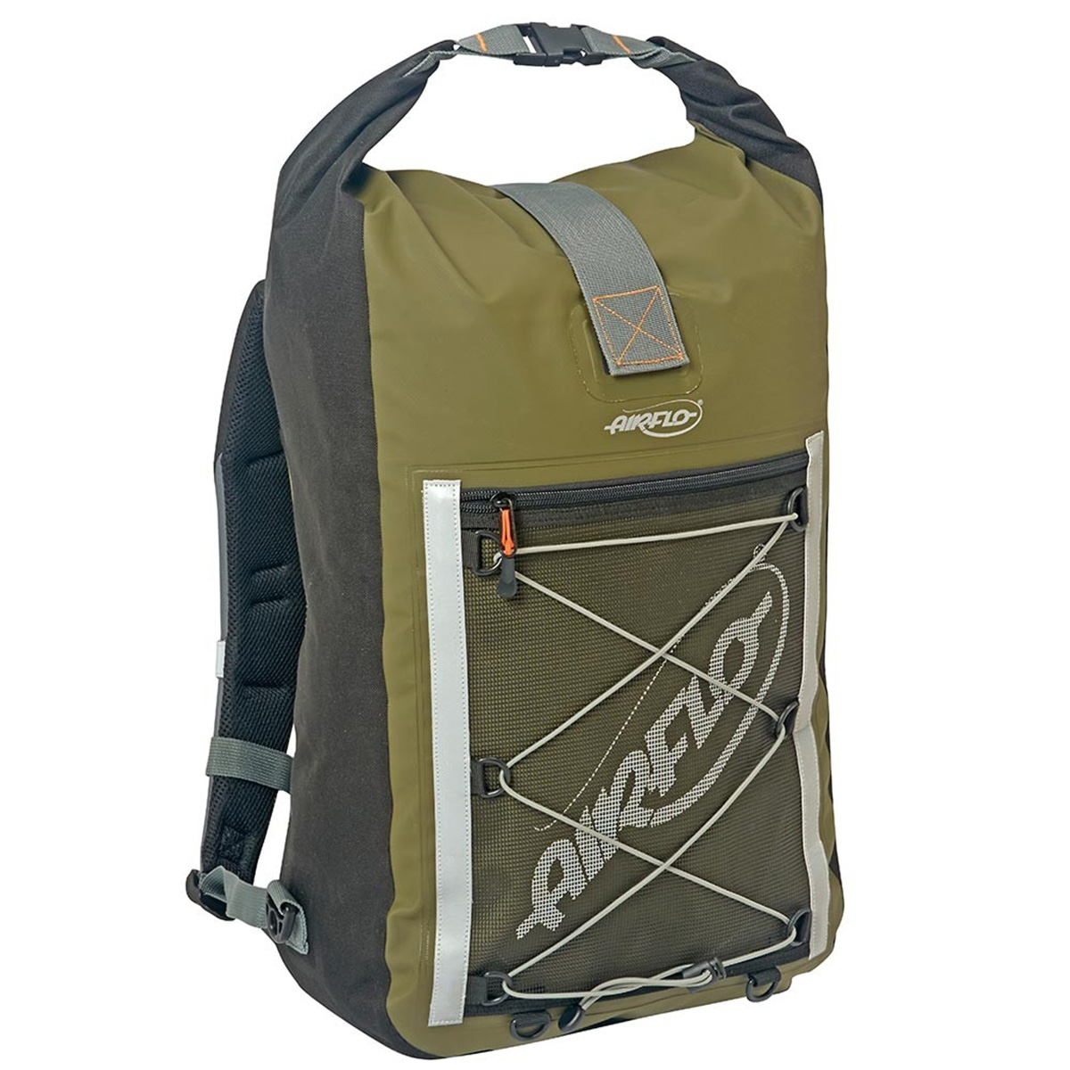 Airflo fly dri 30 litre roll top back pack fishing bags for Fly fishing luggage
