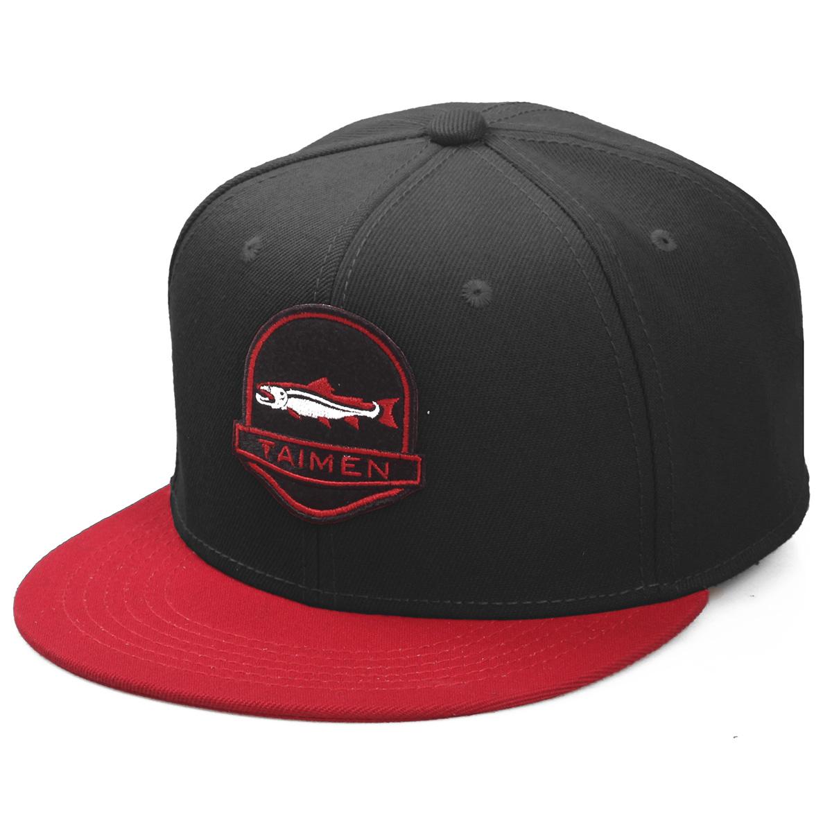 Taimen logo fish snapback czapki w dkarskie taimen for Flat bill fishing hats