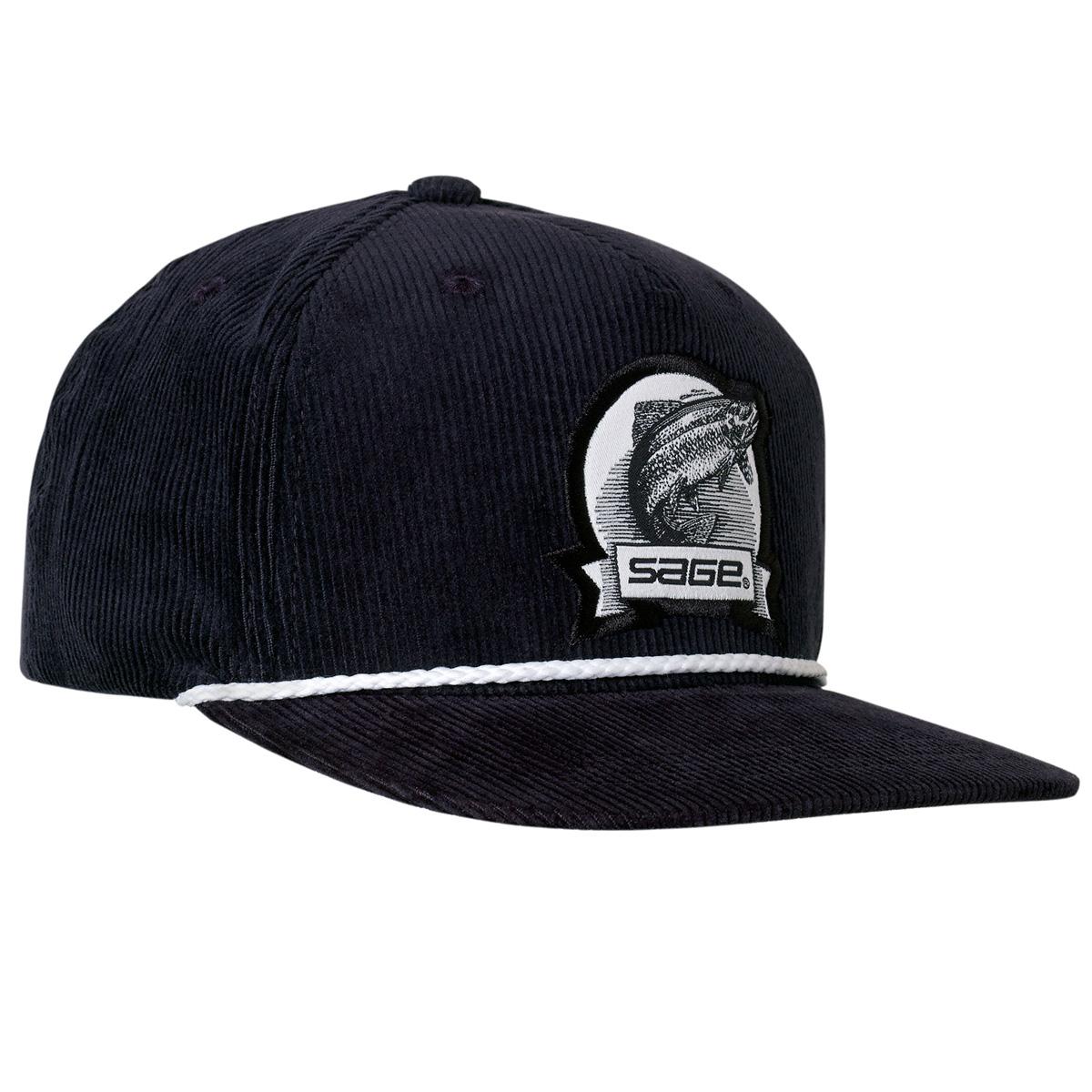 Sage heritage corduroy navy fishing caps taimen for Sage fly fishing hat
