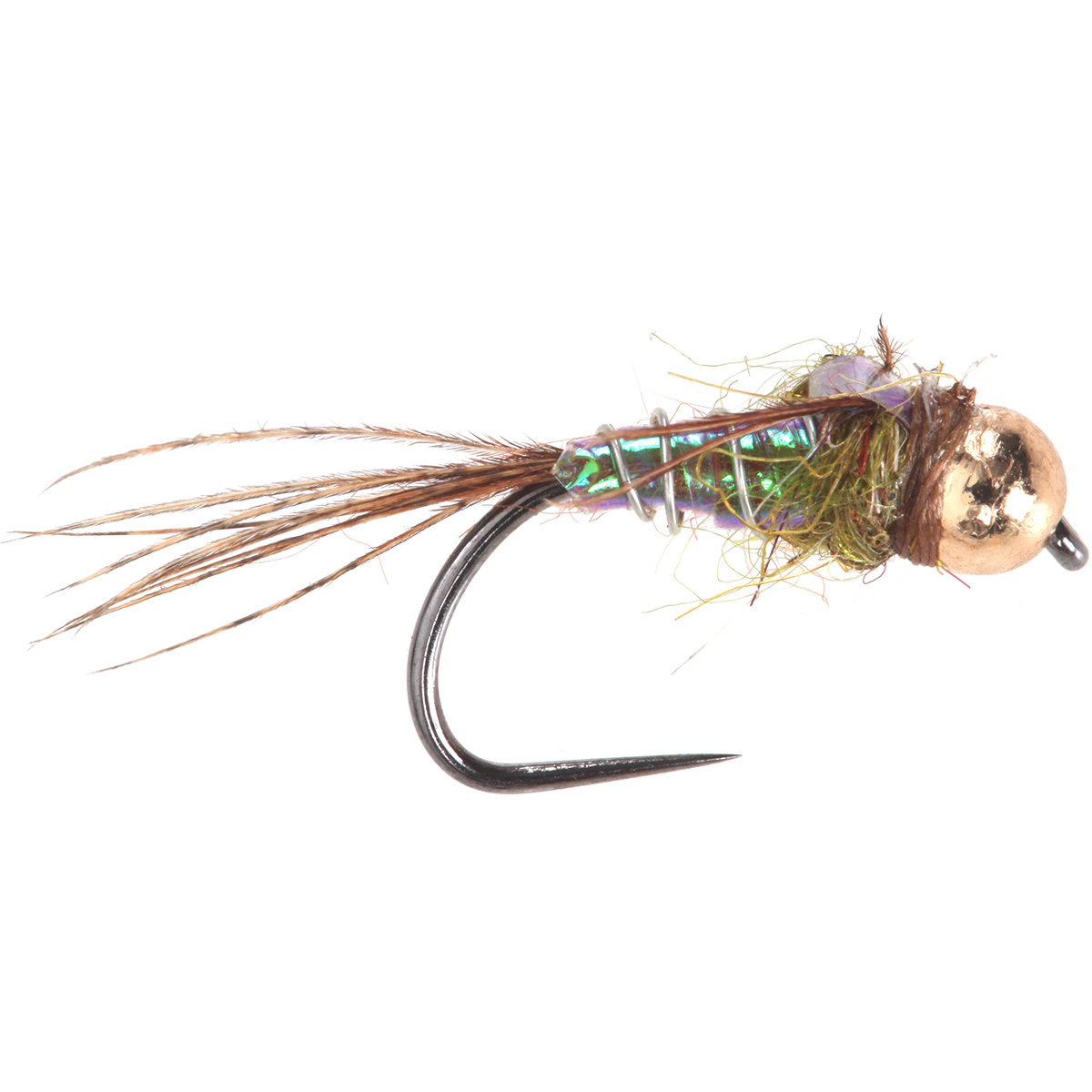 Lightening bug pearl tungsten beads nymphs fishing flies for Fly fishing nymphs
