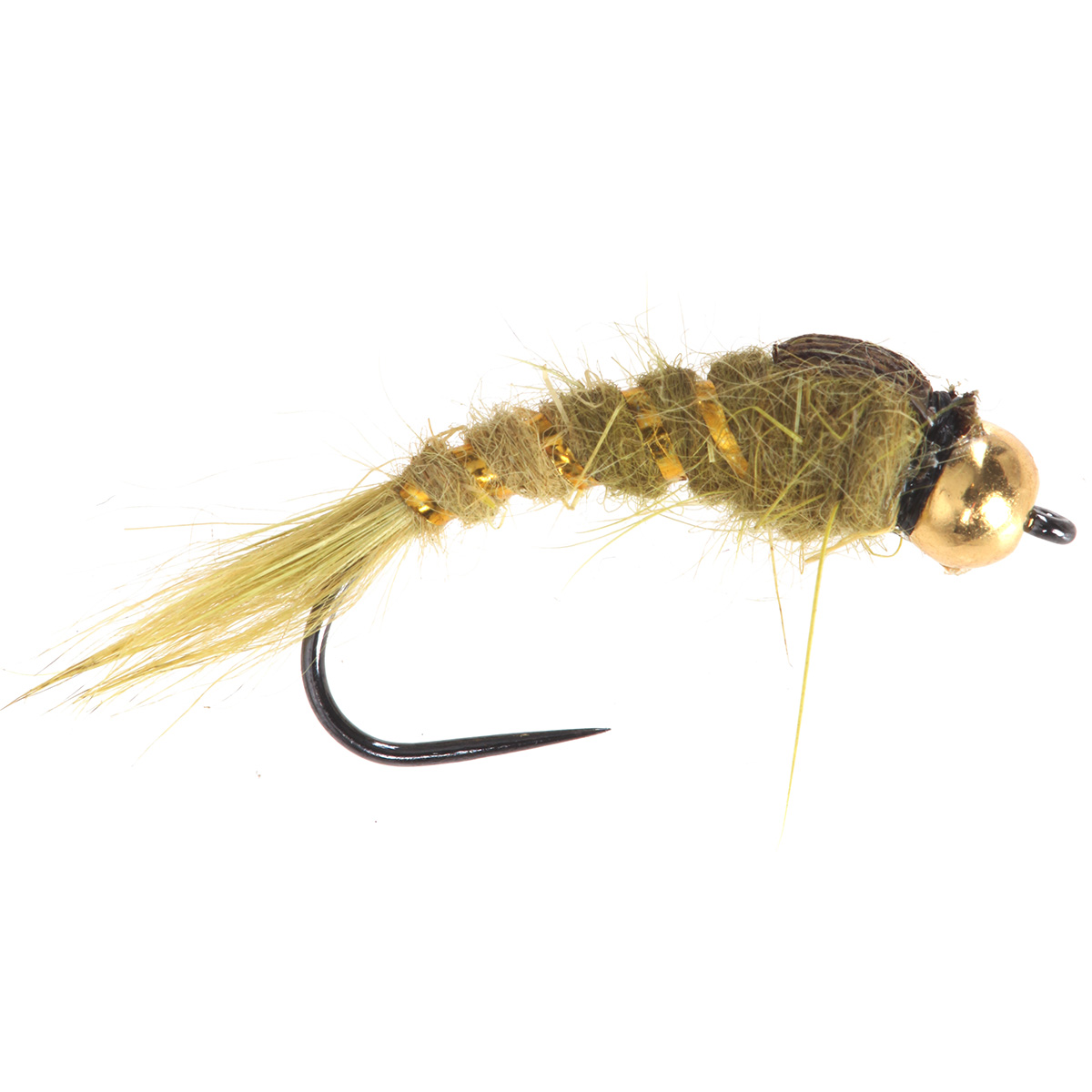 Hares ear stonefly light olive tungsten beads nymphs for Fly fishing nymphs