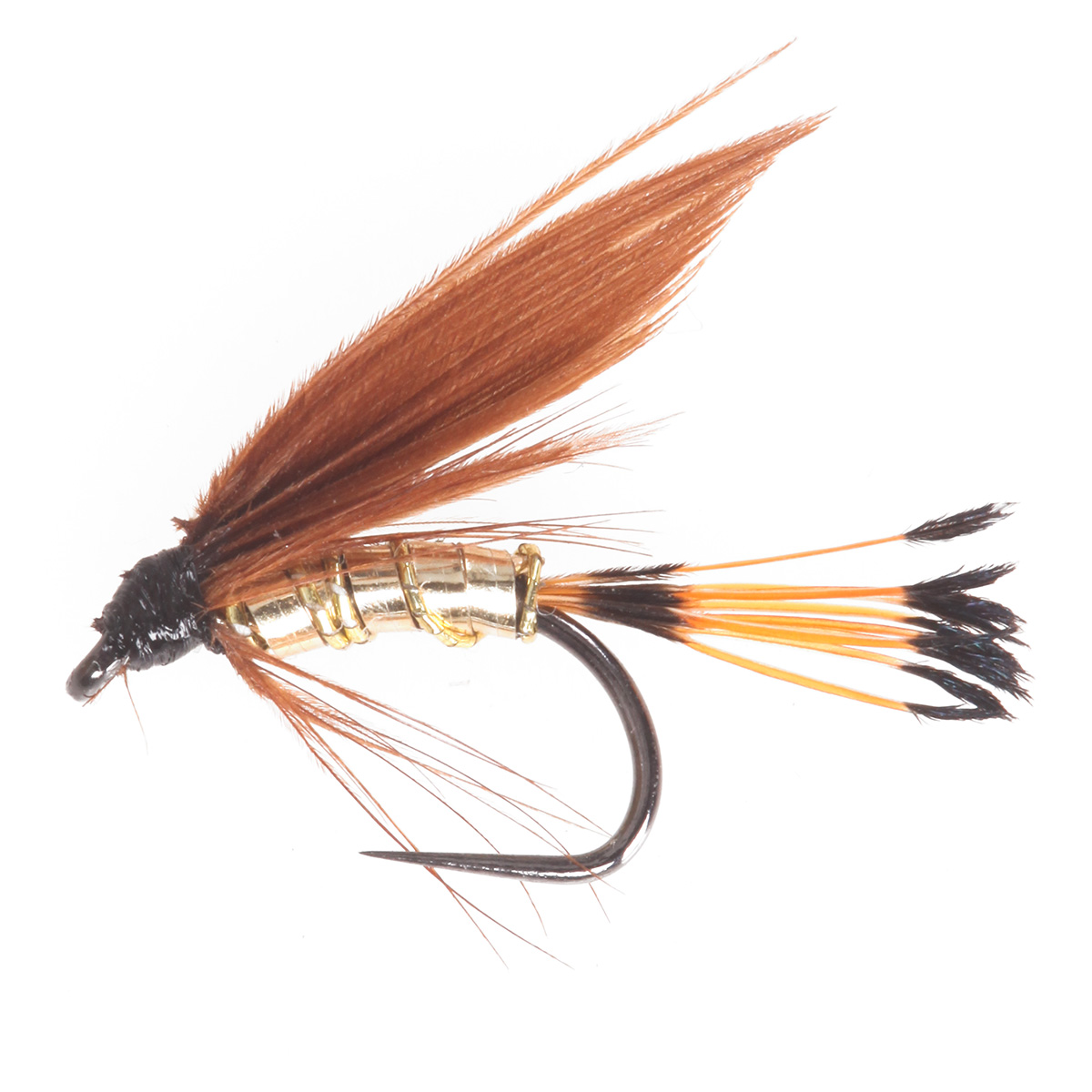 Cinamon and gold fishing wet flies ebay for Wet fly fishing