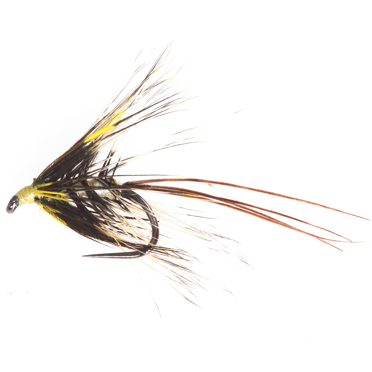 Mayfly Guinea Foul Hackled Yellow (1)