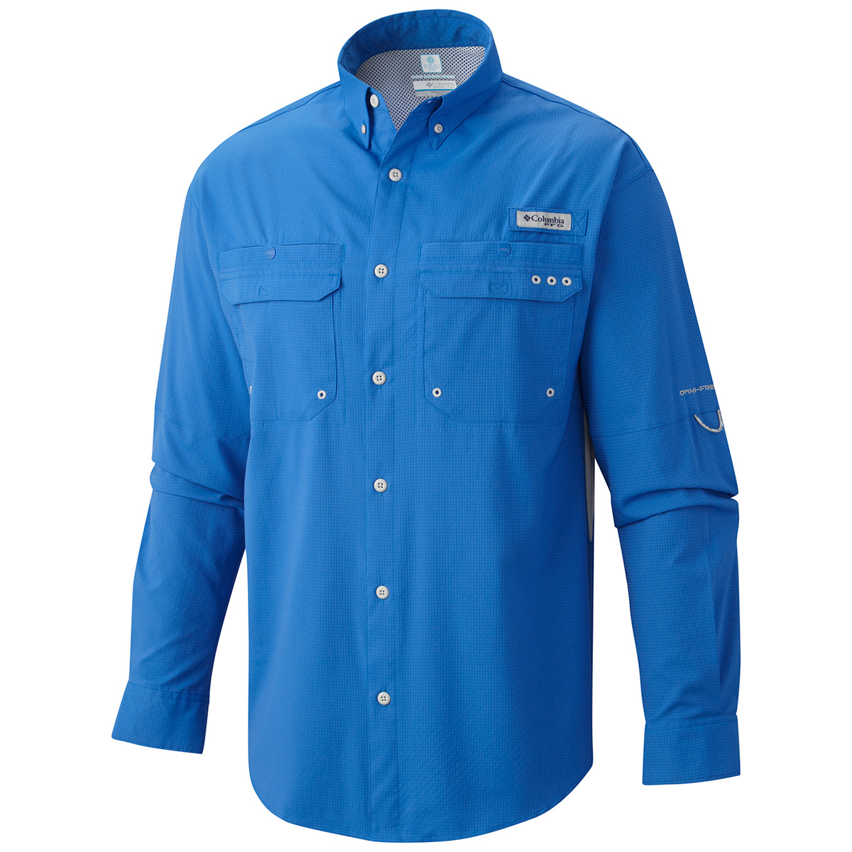 Columbia cast away zero woven long sleeve shirt fishing for Two fish apparel
