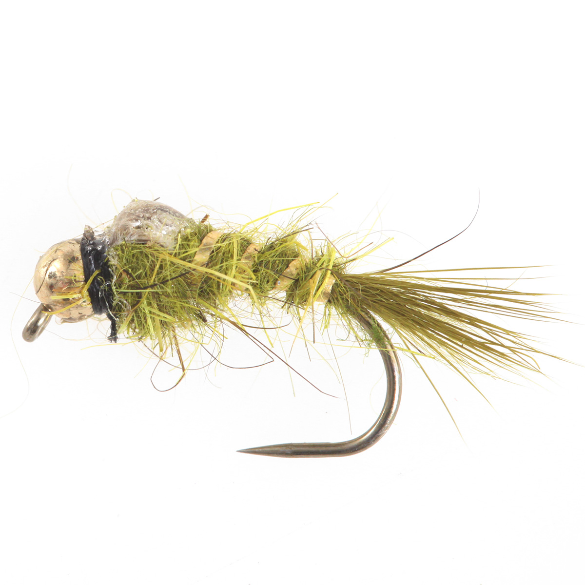 Tungsten BH Epoxy Back Hares Ears Olive