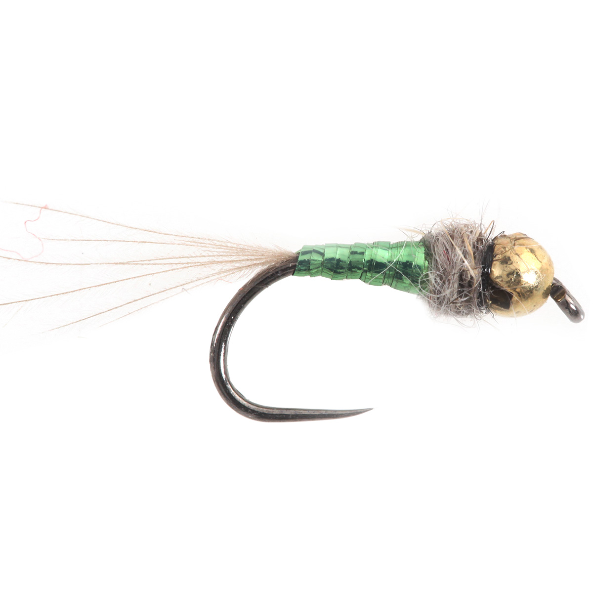 Tungsten BH Micro Nymph Sparkle Green