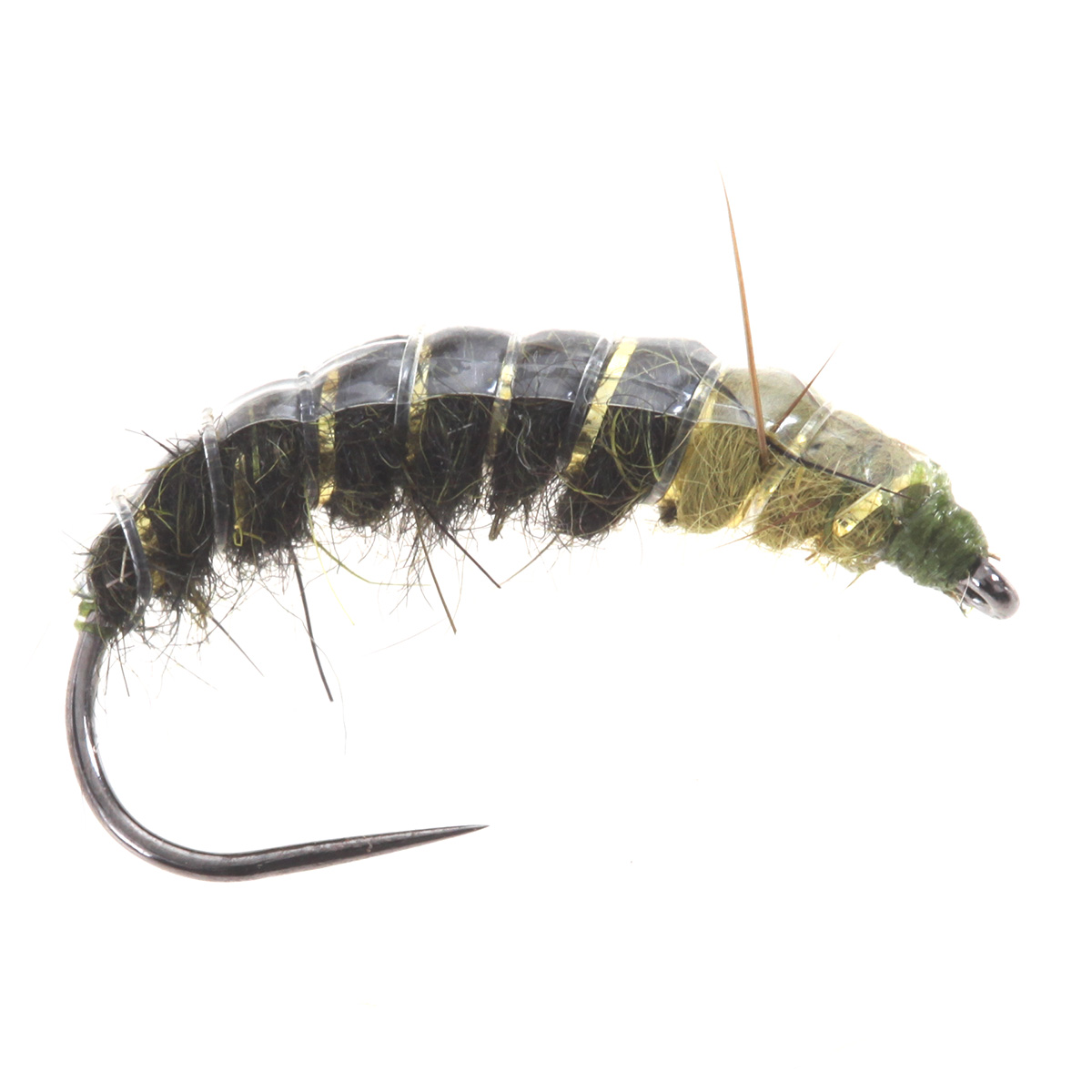 Czech Ribbed Nymph Olive/Chartreuse