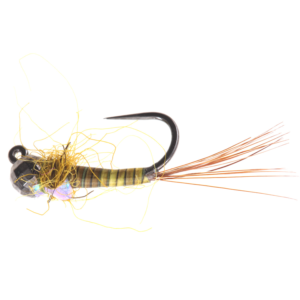 Olive Quill Body Flash Back Jig