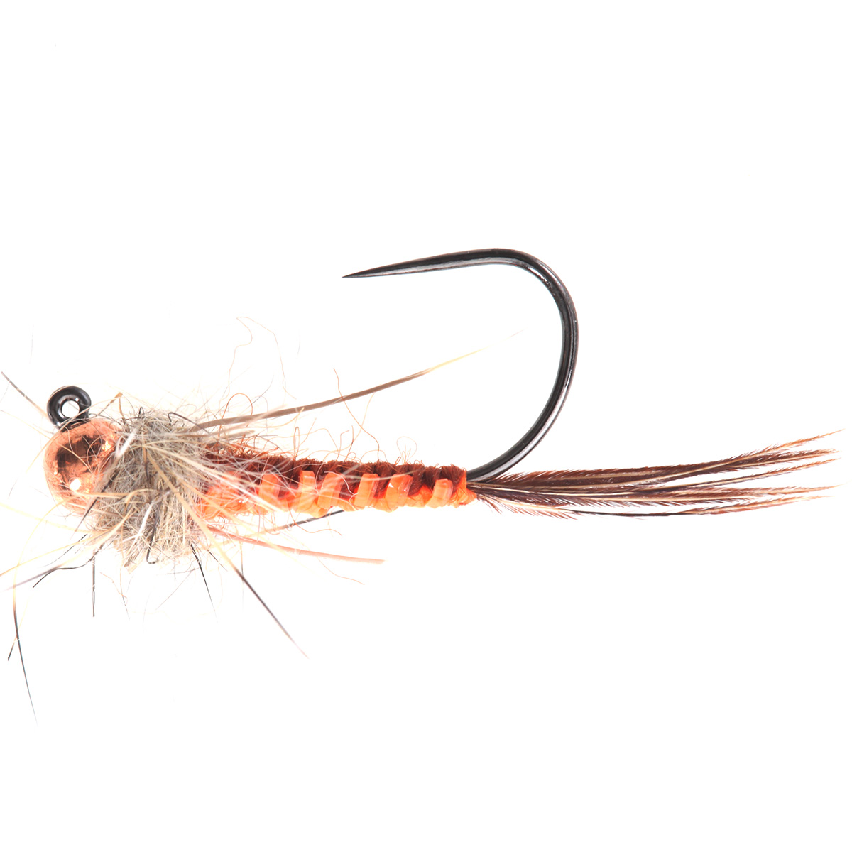 Orange Woven Back Brown Jig