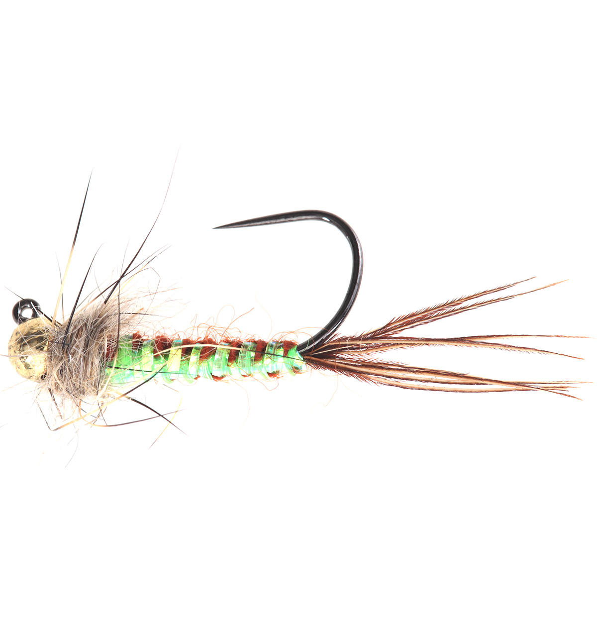 Chartreuse Woven Back Brown Jig