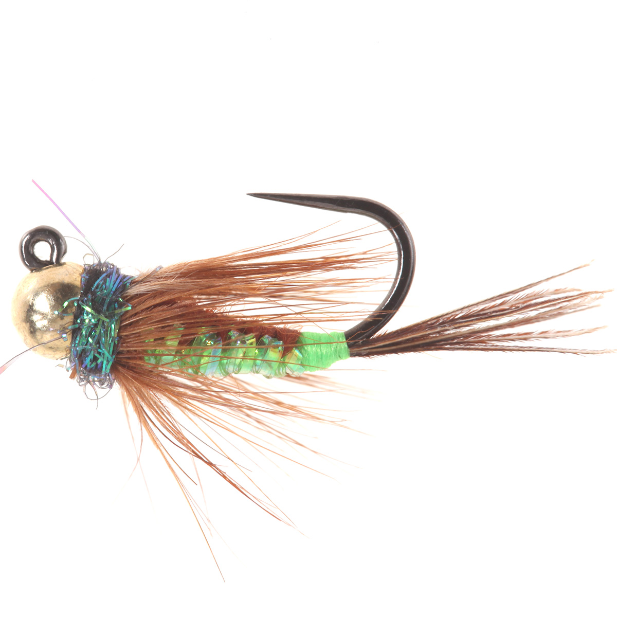 Woven Brown Chartreuse Back Jig