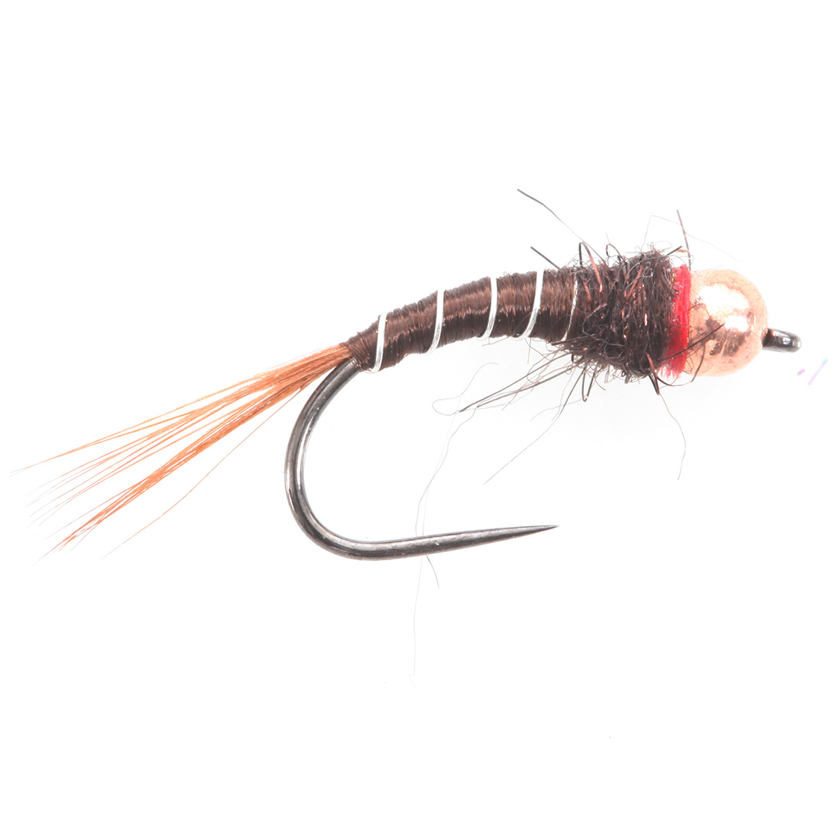 Tungsten bh copper ribbed brown tungsten beads nymphs for Ebay fly fishing