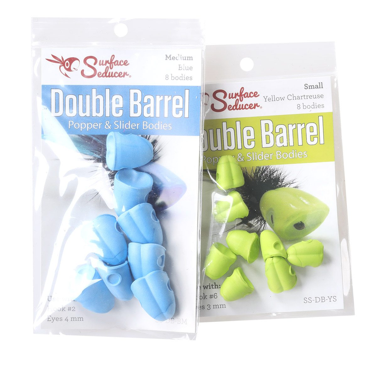 Hareline Double Barrel Popper Bodies