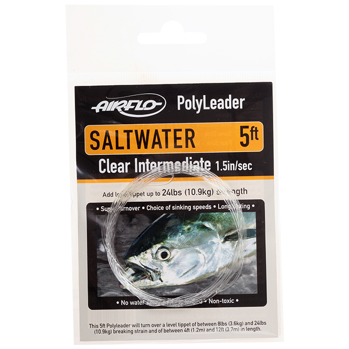 Airflo polyleaders saltwater 5 ft tapered leaders ebay for Saltwater fishing leader