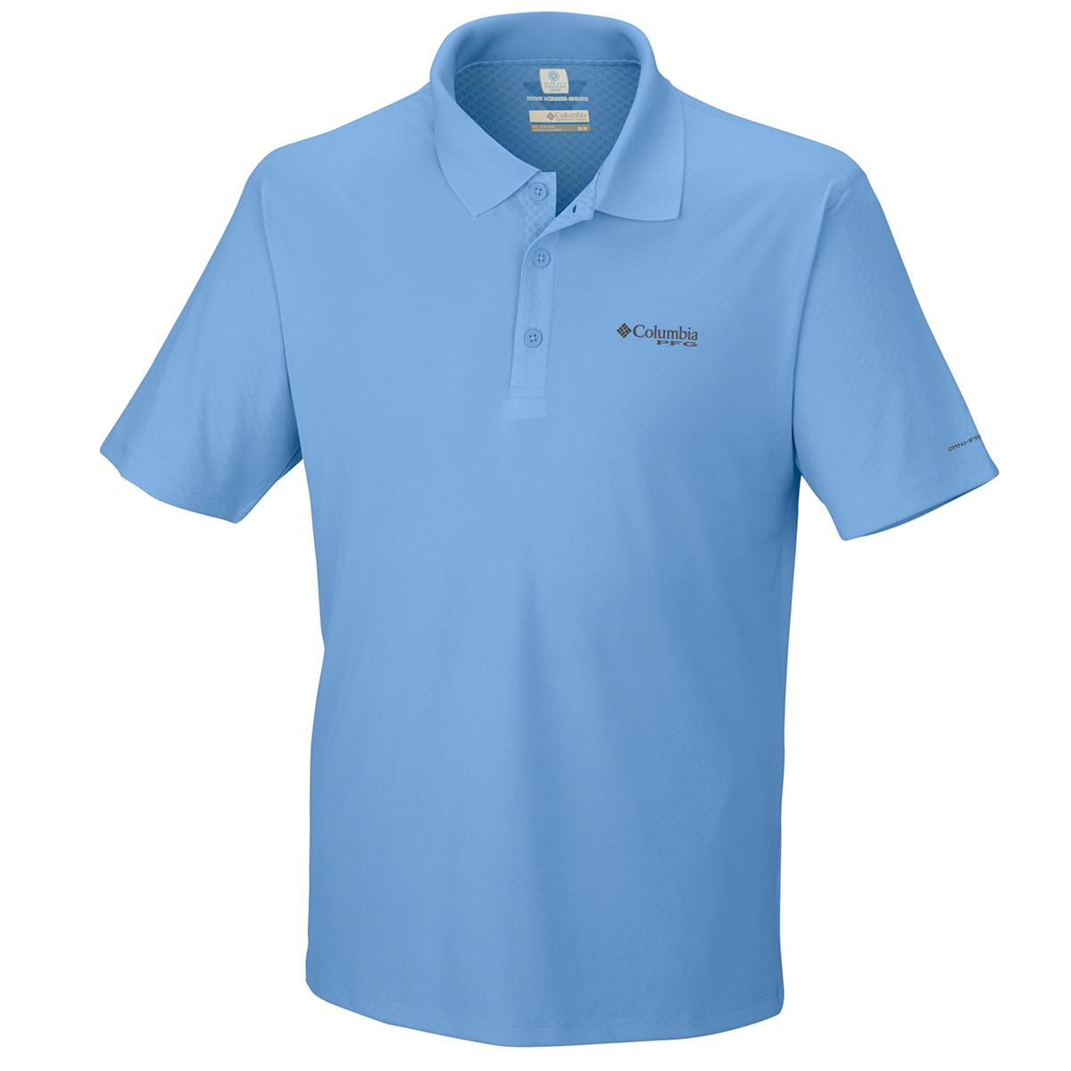 Columbia pfg zero rules polo fishing tshirt ebay for Pfg fishing shirts