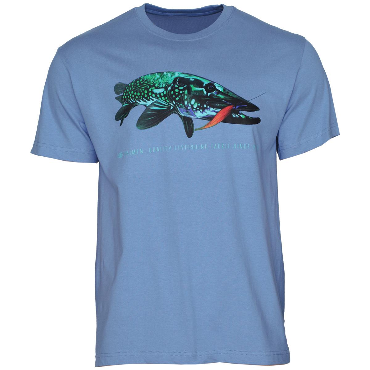 Taimen t shirt pike fishing t shirt taimen for Fishing t shirt