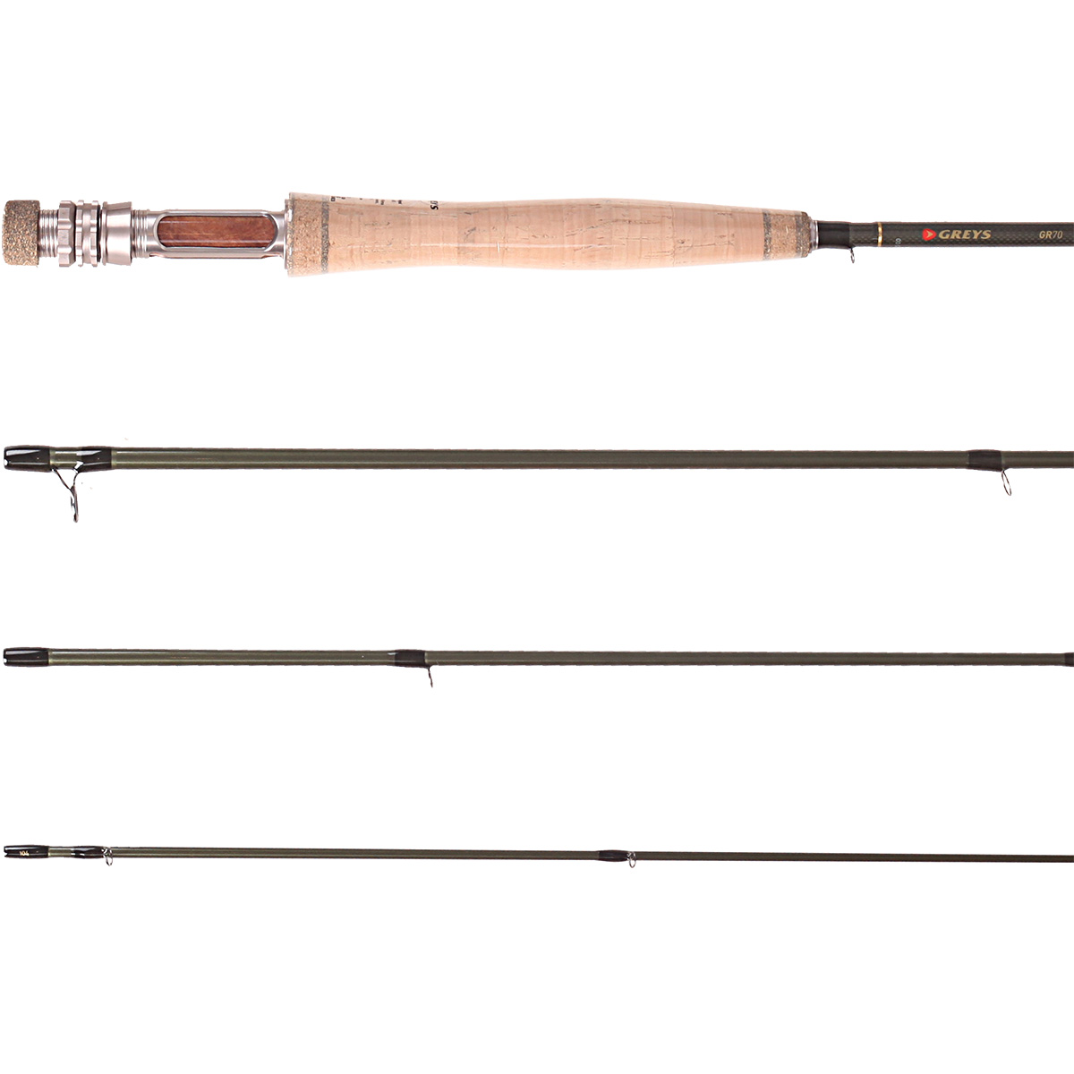 Greys gr 70 streamflex fly fishing rods ebay for Fly fishing with spinning rod