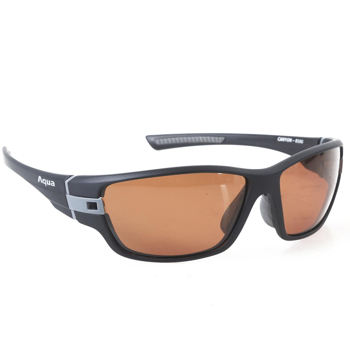 Aqua canyon black matt b fishing polarized sunglasses for Best fishing sunglasses under 50