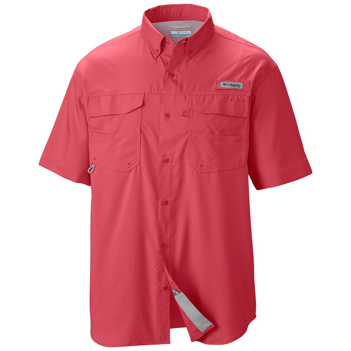 Columbia blood and guts iii short sleeve woven fishing for Two fish apparel
